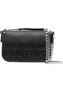 Versace Jeans Couture Embossed Shoulder Bag - Preto