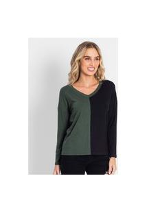 Blusa Feminina Bicolor Rovitex Verde