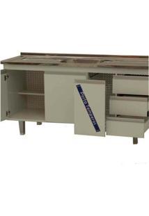 Gabinete De Cozinha 150Cm Siena Branco Bonatto