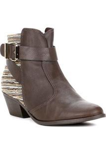 Bota Ankle Boot Feminina Bebecê Marrom