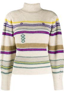Isabel Marant Étoile Knitted Striped Jumper - Neutro