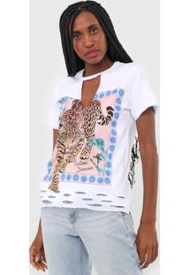 Camiseta Triton Onça Branca
