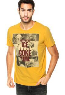 Camiseta Coca-Cola Jeans Ice Amarela