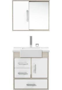Gabinete Banheiro Tampo/Vidro Alhena-Belin / Branco