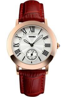 Relógio Skmei Analógico 1083 Vermelho