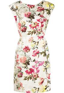 Etro Floral Print Dress - Prateado