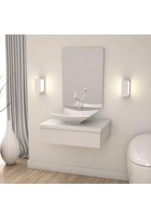 Conjunto Para Banheiro Gabinete Com Cuba Folha L38 600W Metrópole Compace Branco Chess