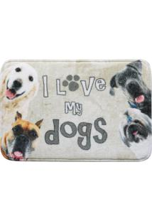 Tapete De Entrada Grand Pet Dog Foto 0,40X0,60M Corttex