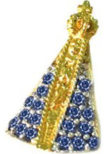 Pingente Prata Mil Nossa Senhora De Ouro C/ Zircônia Ouro