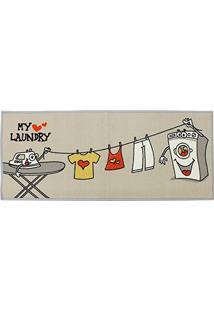 Passadeira Para Lavanderia Kapazi My Laundry 120X50 Cm Varal Com Antiderrapante