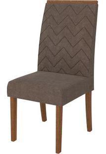 Cadeira Áurea 2 Peças - Rústico Terrara Com Pena Marrom