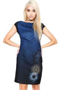 2c8bb5746ae Vestido Azul Desigual feminino