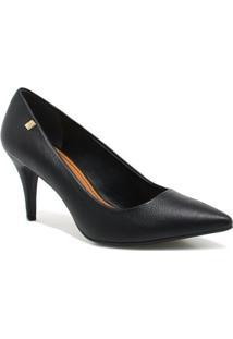 Sapato Loucos E Santos Scarpin Metal - Feminino-Preto