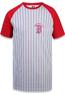 Camiseta New Era Basico Boston Red Sox Mescla/Vermelho
