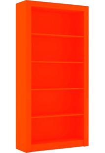 Estante Para Livros Biblioteca G Esm 208 Laranja - Móvel Bento