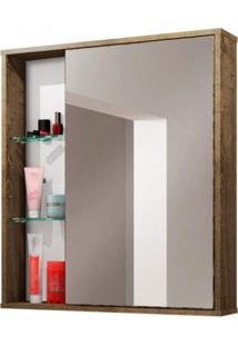 Espelheira Para Banheiro 1 Porta Miami Móveis Bechara Madeira Rústica