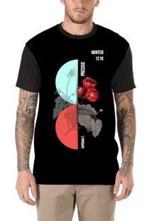 Camiseta Hunter Rosê Preta