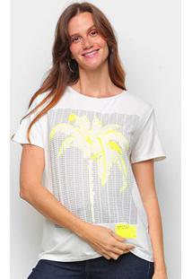 Blusa Lez A Lez Ecovero Thirty Plus Size Feminina - Feminino-Amarelo Claro