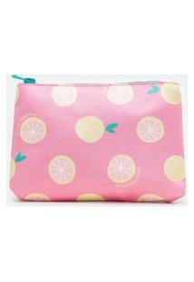 Nécessaire Estampa Frutinhas | Accessories | Rosa | U