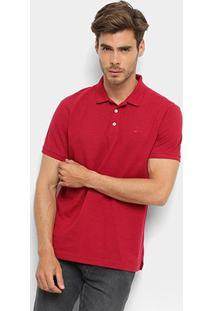 Camisa Polo Ellus Piquet Classic Masculina - Masculino-Vermelho Escuro