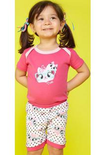 Pijama Gata- Rosa & Brancopuket