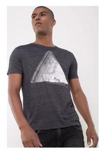 Camiseta Com Estampa Triângulo