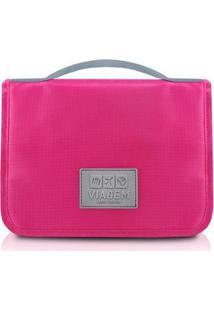 Necessaire Jacki Design De Viagem Com Gancho De Poliéster - Unissex-Pink
