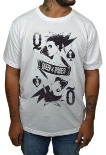 Camiseta Hshop Queen Of Spades Branca