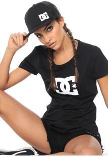 Camiseta Dc Shoes Logo Preta