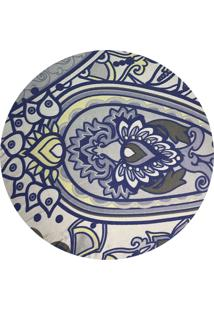 Sousplat Para Prato Suporte De Mesa Decorativo Azul Oriental 30 Cm