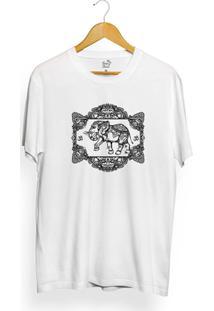 Camiseta Long Beach Elephant Frame - Masculino-Branco