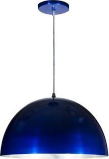 Pendente Meia Lua Em Alumínio Azul 39Cm Skylux