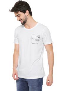 Camiseta Forum Bordado Branca