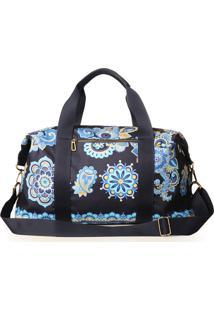 Bolsa Impermeável Estampa Mandala Azul