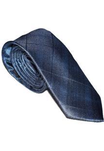 Gravata Azul Trançada Slim 4022