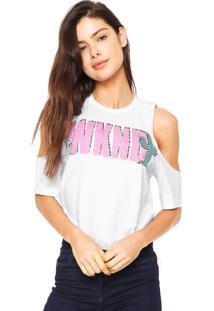 Camiseta Snoopy Off Shoulder Branca
