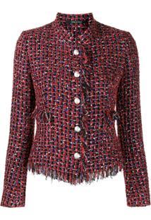 Tagliatore Nikole Tweed Jacket - Vermelho