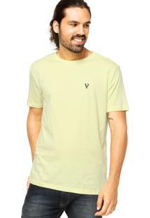 Camiseta Vr Básica Listras Amarela