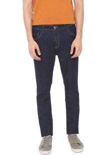 Calça Jeans Denuncia Skinny Pespontos Azul-Marinho