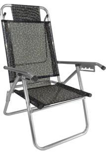 Cadeira Praia Reclinável Zaka Infinita Up Alumínio Até 120 Kg Onça