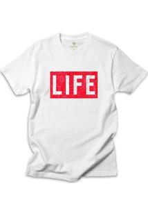 Camiseta Cool Tees Revista Life Magazine - Masculino-Branco