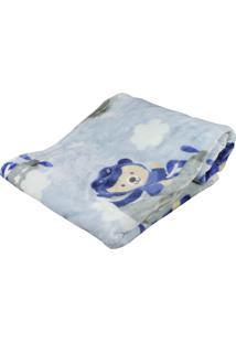 Cobertor De Bebê Hetruria Antialérgico Etruria Azul Piloto