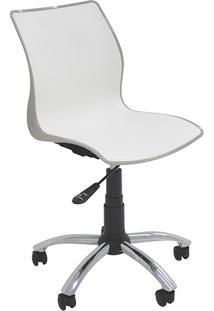 Cadeira Maja Com Rodízio Camurça E Branco - Tramontina