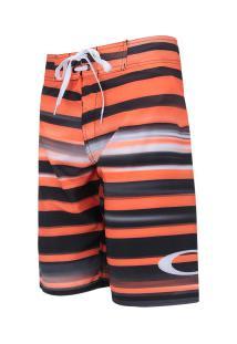 Bermuda Oakley Shadow Stripe 2.0 - Masculina - Laranja/Preto