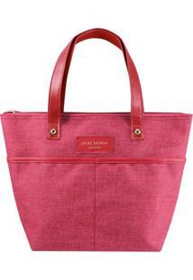 Bolsa Shopper Com Bolsos- Vermelha & Rosa- 23,5X33X2Jacki Design