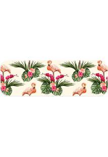 Passadeira Wevans Flamingos Bege - Kanui