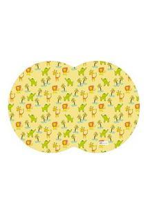 Tapete Pet Mdecore Geométrico Animais Amarelo 54X39Cm