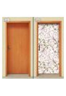 Adesivo Decorativo De Porta - Floral - 1785Cnpt