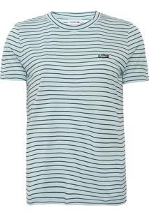 Camiseta Lacoste Listrada Verde - Kanui