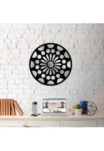 Escultura De Parede Wevans Mandala + Espelho Decorativo